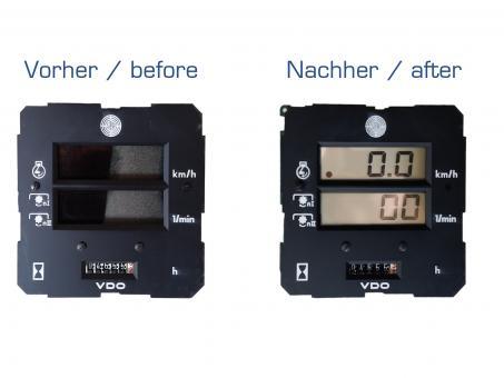 STEYR 942//948//955 VDO TRAKTORMETER//TACHOMETER REPARATUR LCD GEARWORKS DISPLAY F