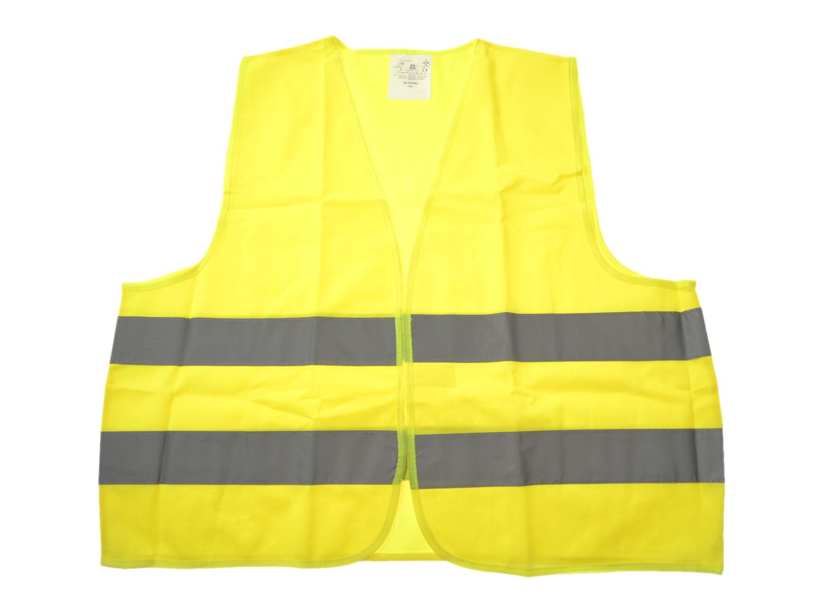 1x Warnweste KFZ gelb DIN EN ISO 20471 in XL für TÜV-HU