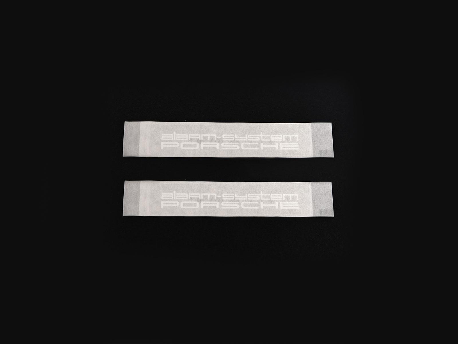 2x original Porsche 911G / 944/964/993/996/986/997 sticker alarm system