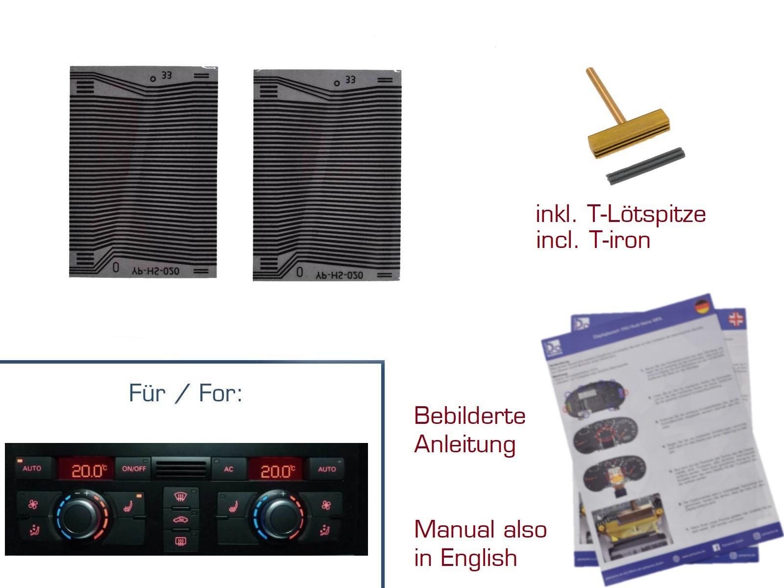 2x Kontaktfolien für Audi Q7/4L Klimabedienteil Display Var. 2