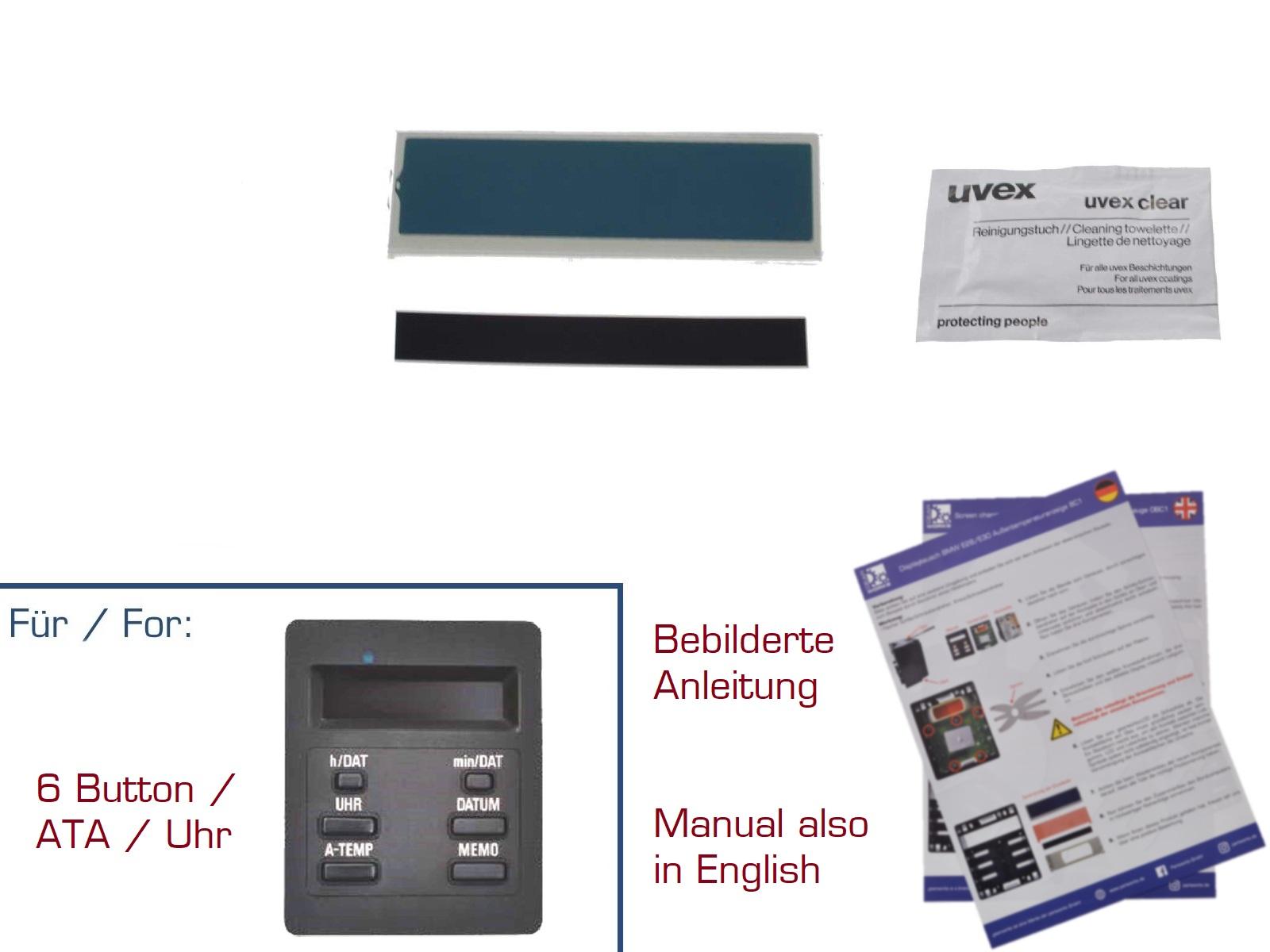 Display Reparaturset für BMW 3er/E30 Außentemperaturanzeige BC 1