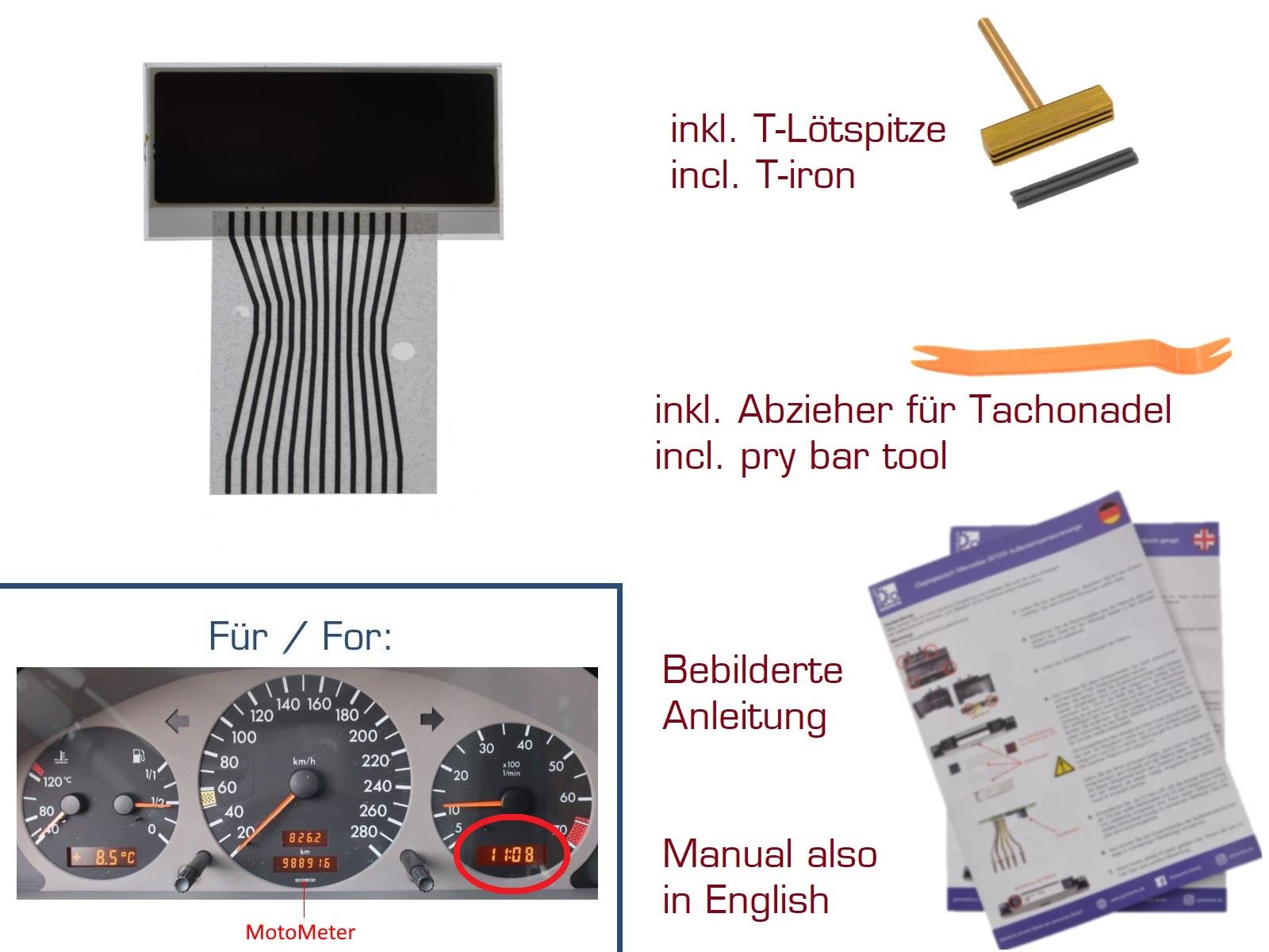 Display für Mercedes CLK W208/C208 Kombiinstrument RECHTS Var. 1