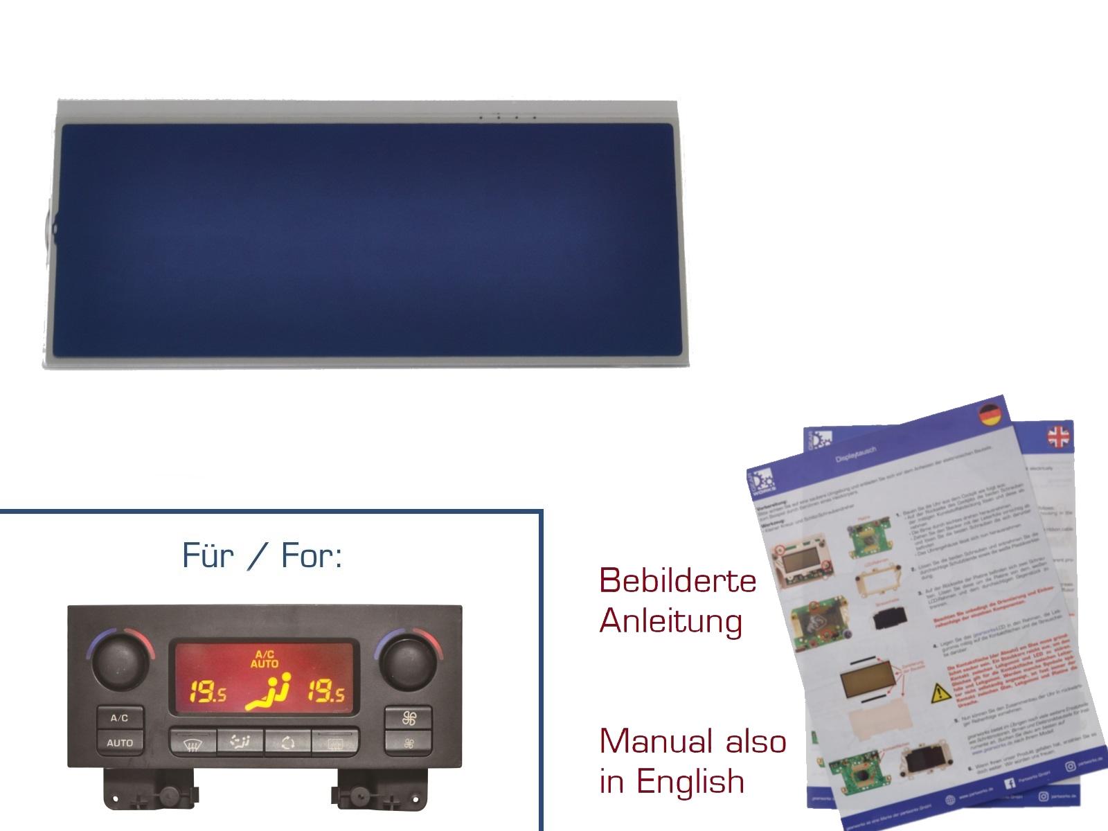 Display für Peugeot 207/307 Klimabedienteil ROT