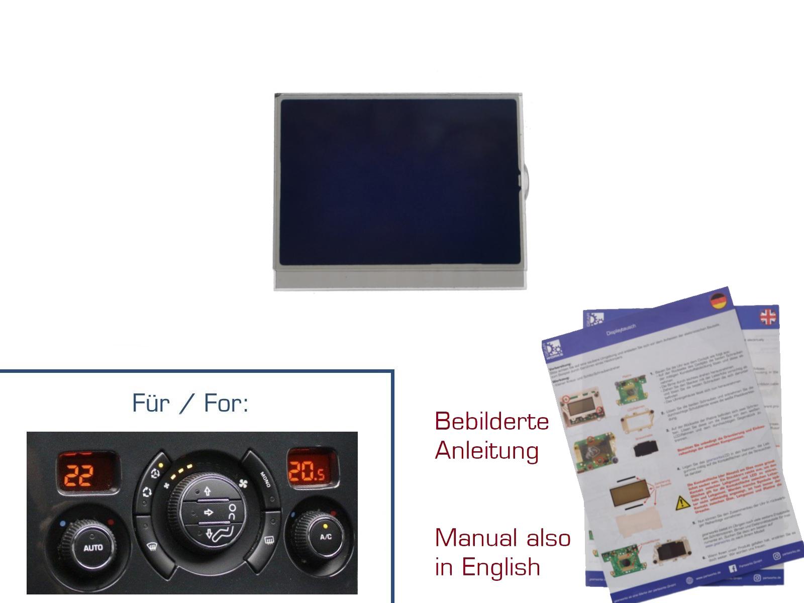 Display für Peugeot 308/3008/5008 Klimabedienteil V1 b=33,9