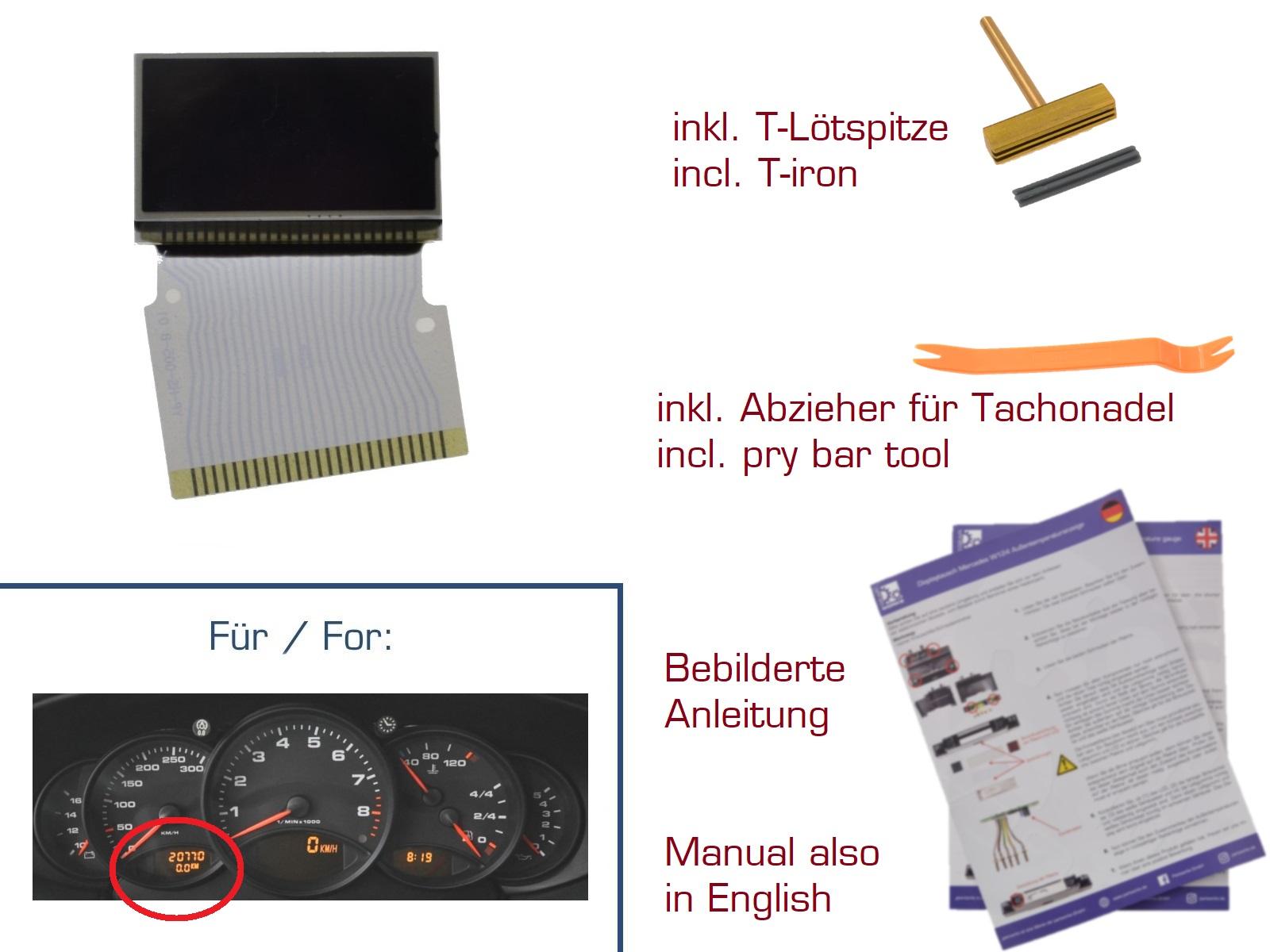 Fond de compteur art abstrait Display-fuer-Porsche-911-996-Boxster-986-Kombiinstrument-LINKS-nicht-zutreffend-1-86359