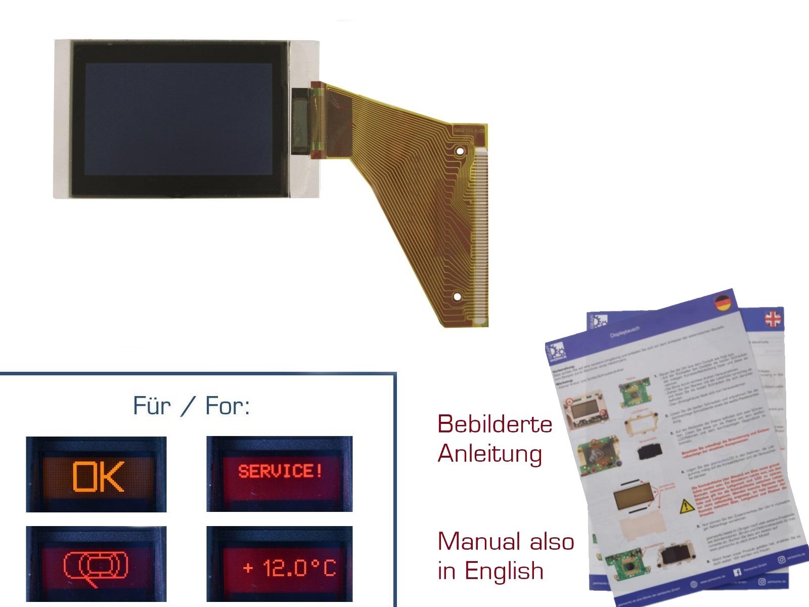 Display for VW Passat / B5 / B6 Sharan to-'00 Instrument Cluster / FIS / MFA