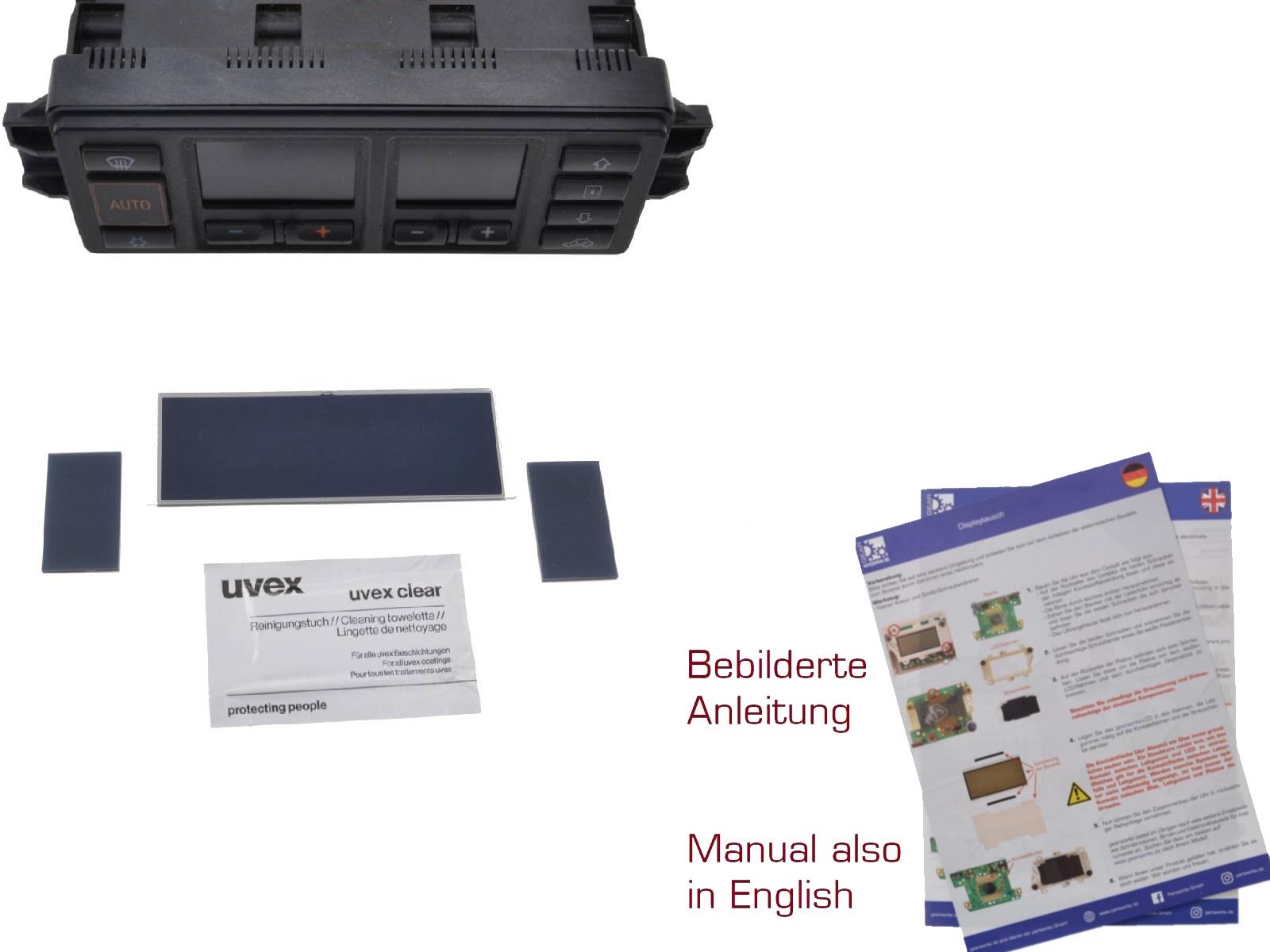 Reparatur Display für Audi 80/100 Klimasteuerung